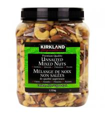 Kirkland Unsalted Mixed Nuts, 1.13 kg
