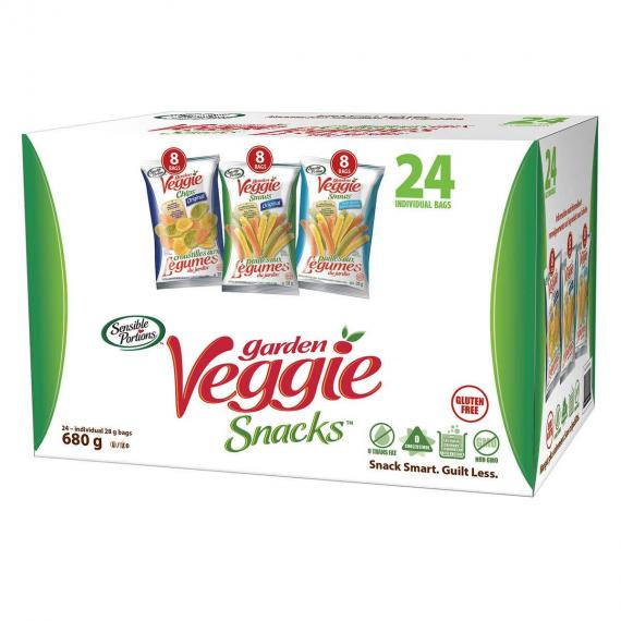Des Portions raisonnables le Jardin de Légumes Collations, 24 x 28 g