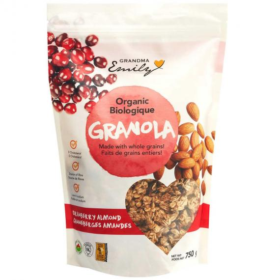 Grandma Emily, Granola Cran / Almonds, Organic, 750 g