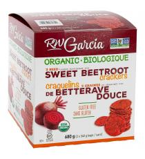 RW Garcia Organic Sweet Beet Crackers 680 g ( 2 x 340 g )