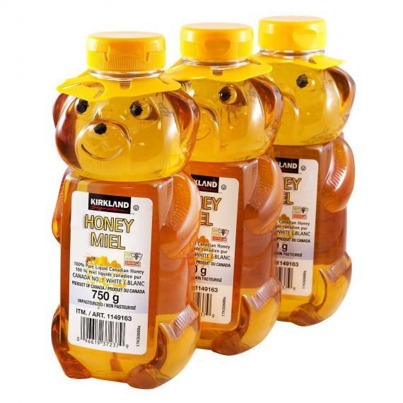 Kirkland signature honey, 3*750 ml