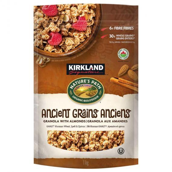 Kirkland Signature Heritage Ancient Grains Almond Granola, 1 kg