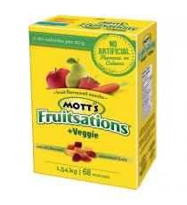 Mott's Fruitsations Assorted Fruit Snacks Veggie 68 × 22.6 g