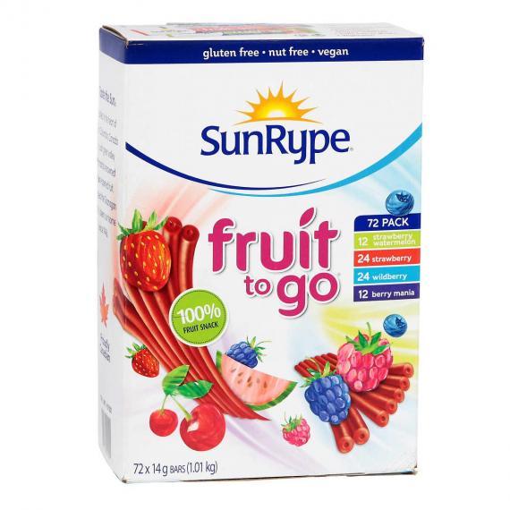 SunRype Fruit to Go Snack, 72 x 14 g