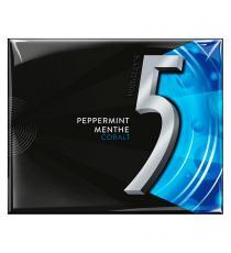 Gomme sans sucre Wrigley's 5, Menthe cobalt, 15 palettes, pqt de 10