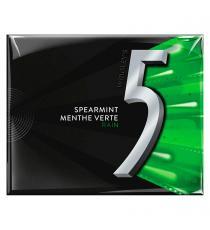 Wrigley's 5 - Gomme sans sucre menthe verte rain 10 paquets de 15