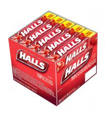 HALLS Mentho-Lyptus Cherry Cough Drops 20 packs of 9