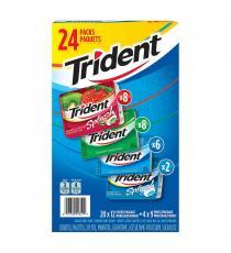 Trident - Gomme sans sucre saveurs variées Paquet of 24