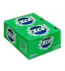 Excel - Gomme sans sucre menthe verte 12 paquets de 12
