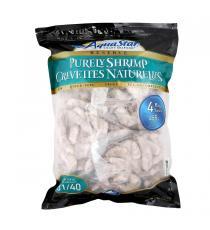 Aqua Star Frozen Chemical-free 31-40 Raw Shrimp per lb, 4 × 455 g