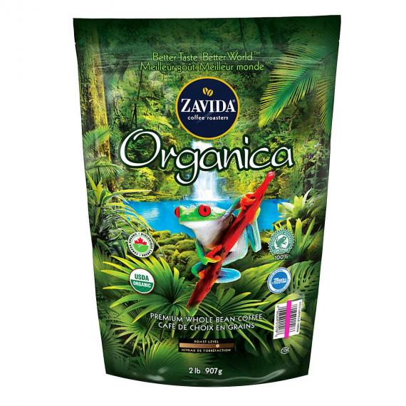ZAVIDA Organica Premium Whole Bean Coffee 907 g