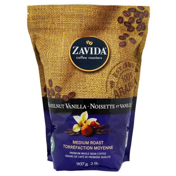 Zavida Hazelnut Vanilla Coffee, Medium roast, Premium whole-bean 907 g