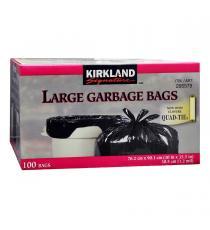 Kirkland Signature Large Quad-tie Garbage Bags Pack of 100