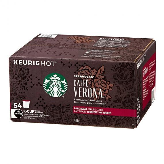 Starbucks Caffè Verona Coffee K-Cup Pods Pack of 54
