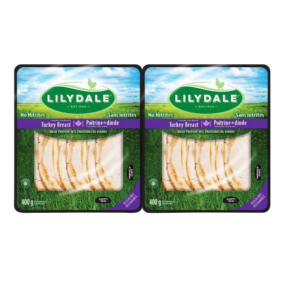 Lilydale Sliced Turkey Breast 2 × 400 g