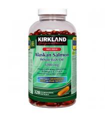 Kirkland Signature - Huile de saumon sauvage de l'Alaska à 100% 320 gélules