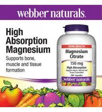webber naturals® citrate de magnésium 150 mg -- 300 capsules