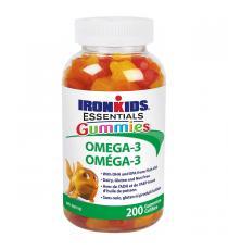 IronKids Essential - Suppléments gélifiés d'omégas-3 200 gélifiés
