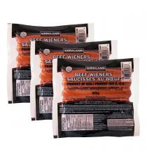 Kirkland Signature - Saucisses au bœuf 3 paquets de 12 - (3 × 675 g)