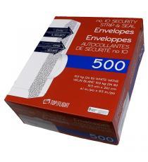 Top Flight - Enveloppes autocollantes de sécurité no 10 Paquet de 500