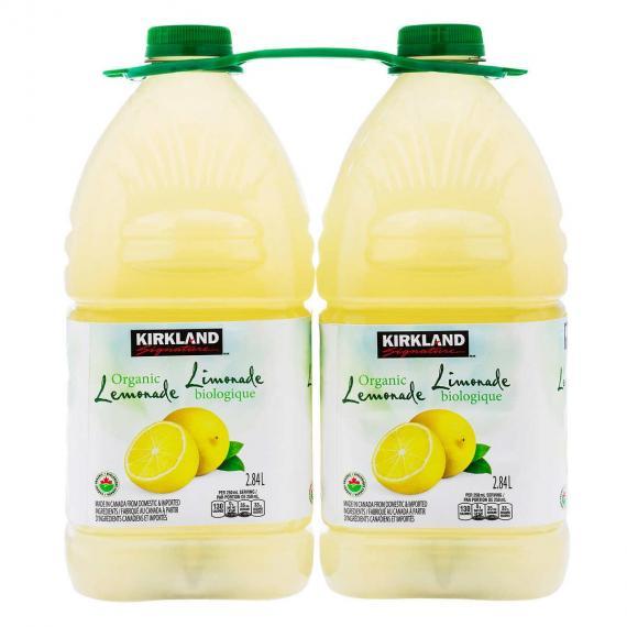 Kirkland Signature Organic Lemonade 2 × 2.84 L