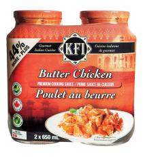 KFI Butter Chicken Sauce, 2 × 650 ml