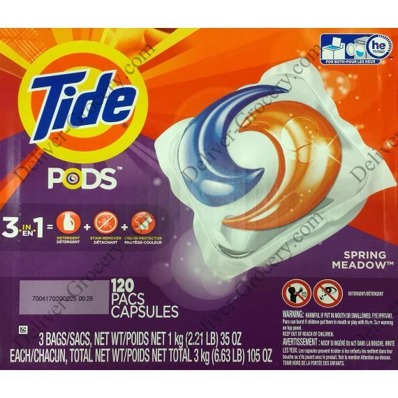 Tide Laundry Detergent Pack, 120 pods, 3 kg