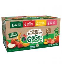 GoGo SQUEEZ Organic Fruit Sauce Variety Pack, 24 × 90 g