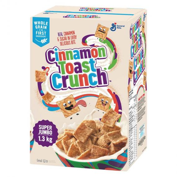 Super Jumbo Cinnamon Toast Crunch Cereal, 1.3 kg