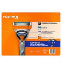 Gillette Fusion -rasoir à main, 5 lames de rasage, Paquet de 18 cartouches