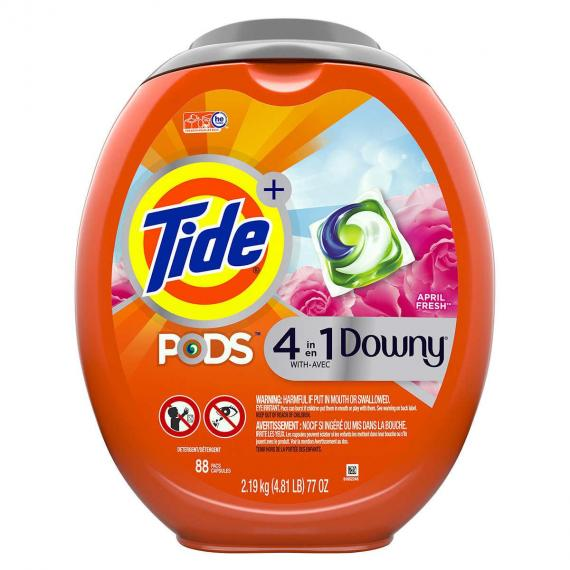 Tide Pods with Downy 88 wash loads