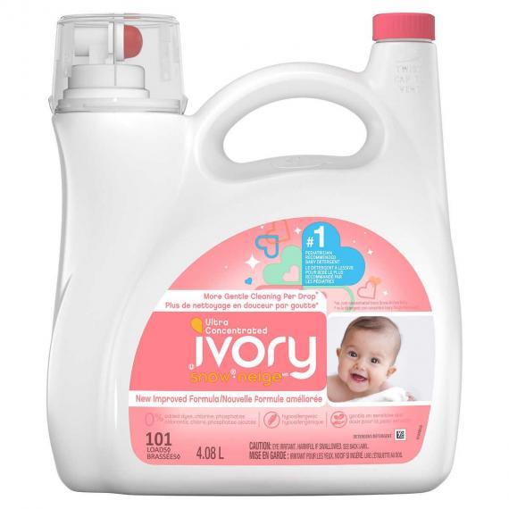 Ivory Snow Newborn Liquid Laundry Detergent, 101 wash loads