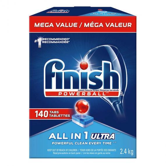 Finish Powerball Max in 1 Ultra Dishwasher Detergent, 140 tabs, 2.4 kg