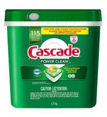 Cascade Power Clean - Détergent pour lave-vaisselle, 115 ActionPacs