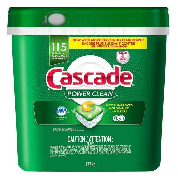 Cascade Power Clean Dishwasher Detergent 115 ActionPacs,