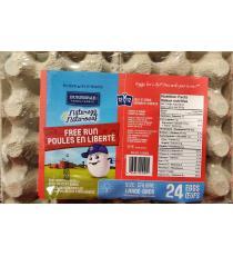Burnbrae Fermes - Gros œufs de poules en liberté, Boite de 24 unités