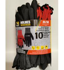 Holmes Workwear Gloves, Medium M, 10 pairs