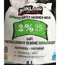 Kirkland Signature Organic Partly Skimmed Milk 2%, 4 L