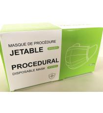 Procedure Disposable Mask, Ear loop, 3 Layers, Blue, 50 masks