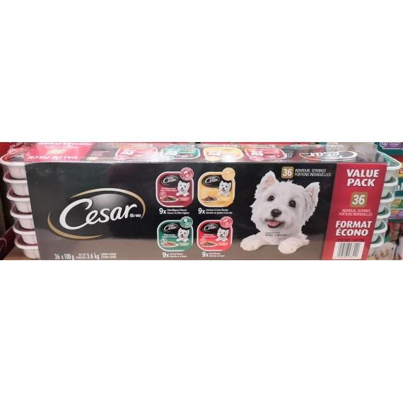 Cesar Dog Food, Variety Pack, 36 x 100 g.