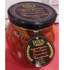 Tassos Fire Roasted Whole Sweet Florina Peppers - 1.5 L