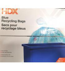 HDX Sacs pour recyclage bleus 83.3 L 30 Sacs