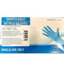 Disposable Nitrile Gloves, Medium, 100