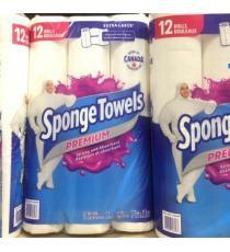 Sponge Towels Premium ,12 Rouleaux X90 Feuilles