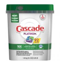 Cascade Platinum Dishwasher Detergent, 92 counts