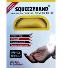 Squeezyband, Adjustable Wristband Hand Sanitizer Dispenser for Adults, Yellow