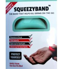 Squeezyband, Adjustable Wristband Hand Sanitizer Dispenser for Adults, Green