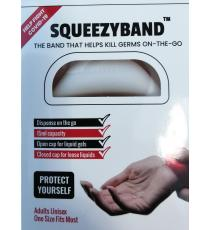 Squeezyband, Adjustable Wristband Hand Sanitizer Dispenser for Adults, White