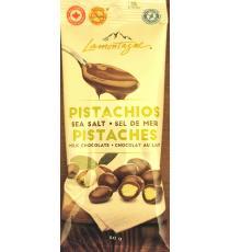 Lamontagne Pistachios Sea Salt Milk Chocolate, 50 gr