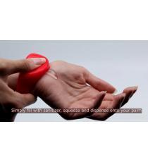 Distributeur de désinfectant pour les mains à bracelet réglable pour adultes, Rose
